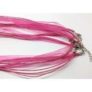 Support pour bijoux organza rose
