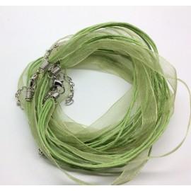 Support cordon pour bijoux vert clair