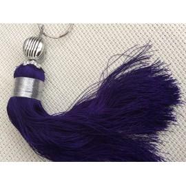 Pompon violet foncé 17 cm en sabra