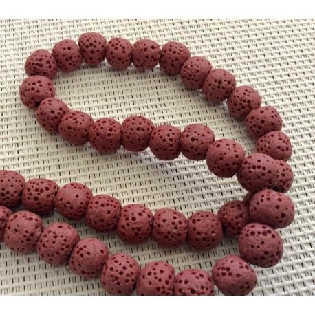 10 Perles volcaniques rouges