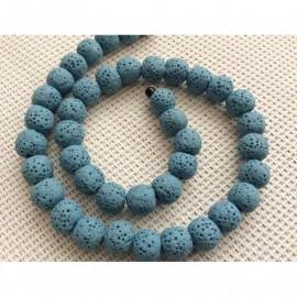 Perles de lave bleu clair 8mm