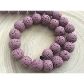 Perles volcaniques roses de 10 mm