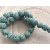 10 perles de lave Vertes
