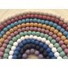 8 perles de lave Vertes 10mm