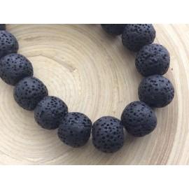 Perles volcaniques noires 10 mm