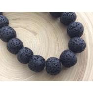 Perles de lave Noires x10