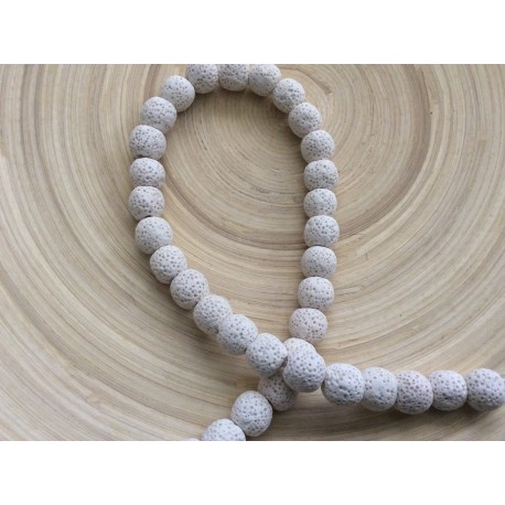 Perles volcaniques blanches x10