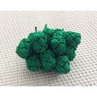 Perles boutons en soie végétale rose