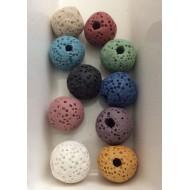 10 perles de laves multicolores