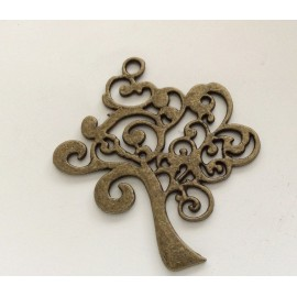 Breloque motif arbre de couleur Bronze