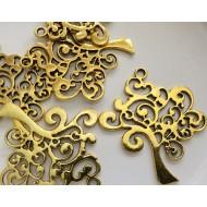 Breloque motif arbre de vie doré