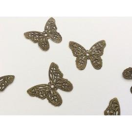 2 estampes papillons couleur bronze
