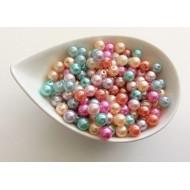Perles rondes nacrées x40