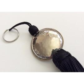 Porte clé Noir perle ronde