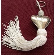 Porte clé Pompon et sa perle ronde