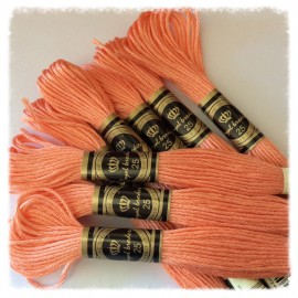 10 Echevettes de fils en coton Saumon