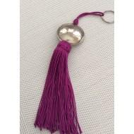 Porte clés pompon et sa perle ronde
