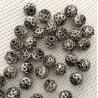 20 perles rondes en métal 9 mm