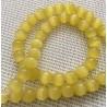 10 perles oeil de chat jaunes 8 mm
