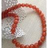 10 perles œil de chat Oranges