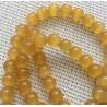 10 perles oeil de chat jaunes orangées