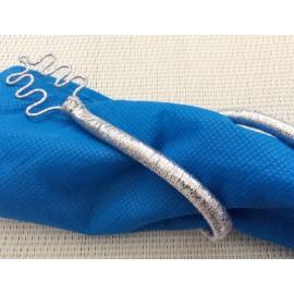 Ronds de serviettes argentés