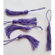 Lot de 5 petits pompons violets