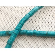 Perles palets turquoises