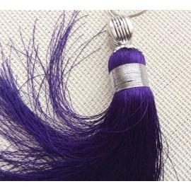 Pompon violet 17 cm en sabra