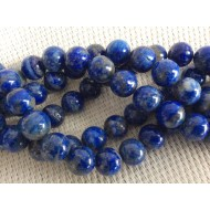 10 perles Lapis Lazuli 8 mm