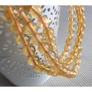 Perles rondes en citrine 6mm