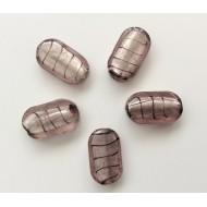 5 perles grises nacrées grand modèle
