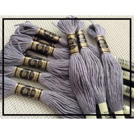 Echevettes de fils grises en coton x10