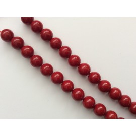 Perles agates rouges x15