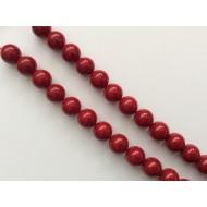 Perles agates rouges x15
