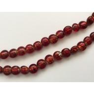 20 perles ovales rouges nacrées