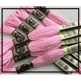 Echevettes de fils roses en coton x10