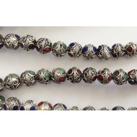 10 perles rondes à facettes