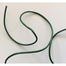 Cordon en cuir vert