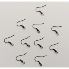 10 supports boucles d'oreilles gunmétal