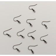 10 supports argentés pour boucles d'oreilles