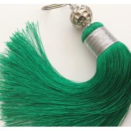 Pompon en Soie Verte grand modèle
