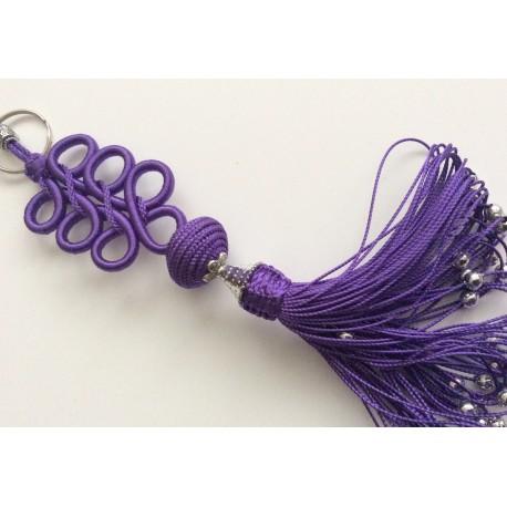 Porte clés arabesque Violet