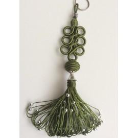 Porte clés arabesques Vert