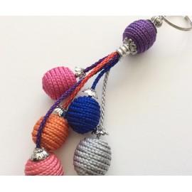 Porte clés multicolore