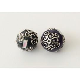 2 perles indonésiennes 19 cm