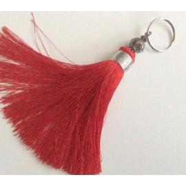 Pompon en breloque rouge