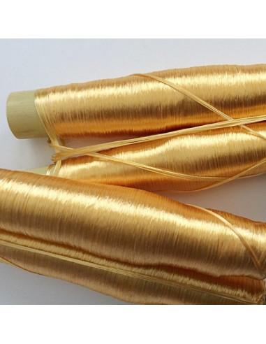 Pompons verts/dorés en coton