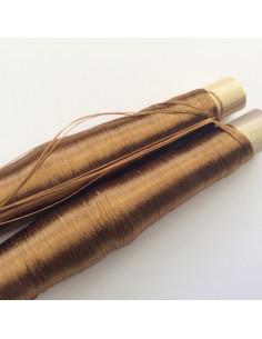 2 bobines de fils en soie couleur noire