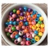 Assortiment de 30 perles multicolores